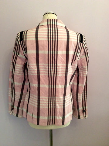 Basler Pink, White & Black Check Jacket Size 14 - Whispers Dress Agency - Womens Coats & Jackets - 2