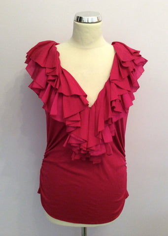 BRAND NEW RALPH LAUREN ARUBA PINK VERONICA RUFFLE TOP SIZE XL - Whispers Dress Agency - Womens Tops - 1