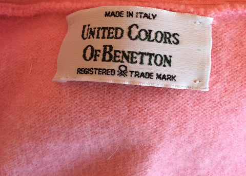 Vintage United Colours Of Benetton Pink Wool & Angora Jumper Size M - Whispers Dress Agency - Womens Vintage - 2