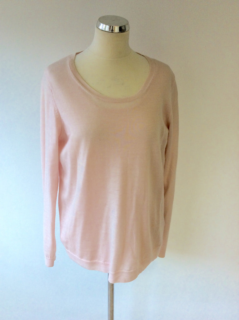 4a86c109b8350e UNIQLO PALE PINK WOOL SCOOP NECK JUMPER   LONG SLEEVE TOP SIZE XL -  Whispers Dress