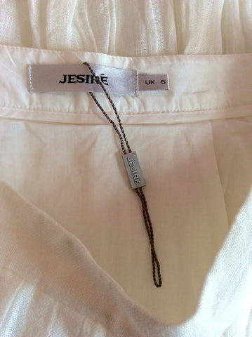 Brand New Jesire Winter White Linen Skirt Size 6 - Whispers Dress Agency - Womens Skirts - 3