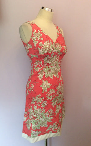 Brand New Ady Gluck-Frankel Pink Floral Print Dress Size S - Whispers Dress Agency - Womens Dresses - 1