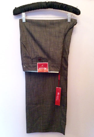 Brand New Monsoon Brown Marl Trousers Size 16 - Whispers Dress Agency - Womens Trousers - 1