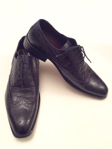 Smart Pat Calvin Italian Leather Lace Up Shoes Size 7/41 - Whispers Dress Agency - Mens Formal Shoes - 1