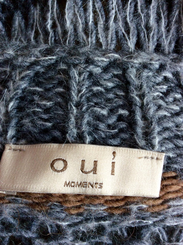 OUI MOMENTS TAN,CREAM & GREY STRIPE WOOL CARDIGAN SIZE S - Whispers Dress Agency - Womens Knitwear - 3