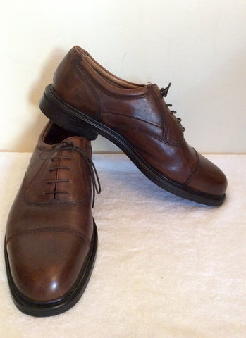 Brand New Oakridge Brown Leather Lace Up Shoes Size 12 /46.5 - Whispers Dress Agency - Mens Formal Shoes - 1