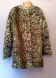 Zara Kids Leopard Print Faux Fur Coat Age 10/11 Years - Whispers Dress Agency - Sold - 1