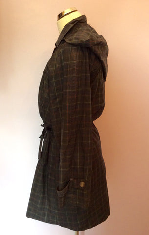 Vintage Jaeger Green Check Cotton Jacket Size S - Whispers Dress Agency - Womens Vintage - 3