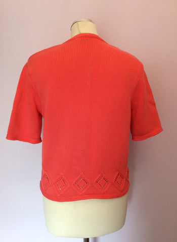 Vintage United Colours Of Benetton Coral Short Sleeve Jumper Size M - Whispers Dress Agency - Womens Vintage - 2