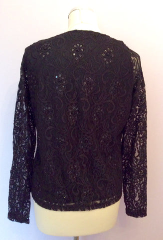 Verse Black Lace With Beads & Sequins V Neck Top - Whispers Dress Agency - Womens Tops - 2