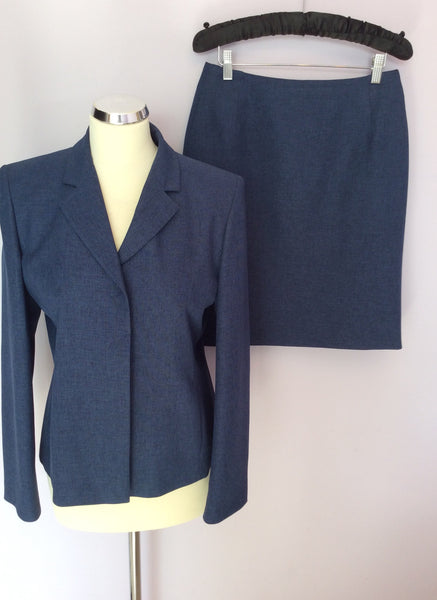Marks & Spencer Indigo Blue Skirt Suit Size 12 - Whispers Dress Agency - Sold - 1