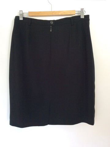 BETTY BARCLAY BLACK PENCIL SKIRT SIZE 16 FIT 12/14 - Whispers Dress Agency - Womens Skirts - 2
