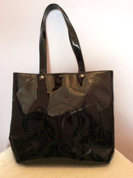 Jaeger Black Patent Shopper / Shoulder Bag - Whispers Dress Agency - Sold - 1