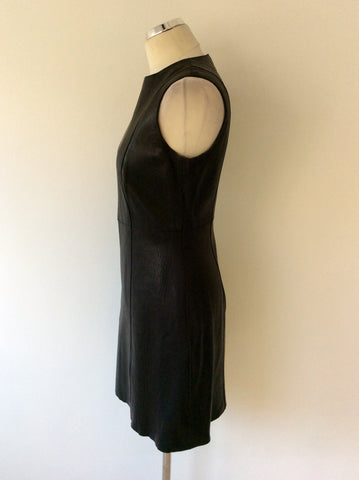 BRAND NEW CELINE BLACK LEATHER DRESS SIZE 42 UK 12 - Whispers Dress Agency - Womens Dresses - 4