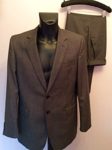 Jaeger 'Mayfair' Charcoal Grey Fleck Wool Suit Size 42R/34W - Whispers Dress Agency - Mens Suits & Tailoring - 1