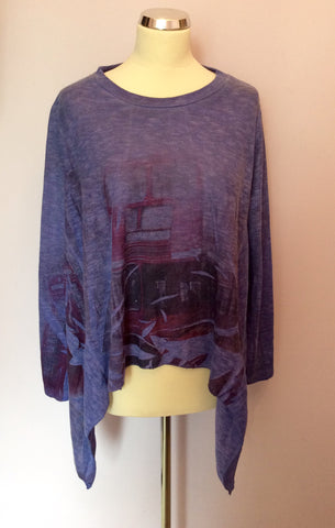 Obsession Purple Oversize Fine Knit Jumper One Size - Whispers Dress Agency - Womens Knitwear - 1