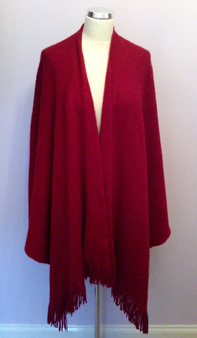 Unbranded Red Fringed Wrap One Size - Whispers Dress Agency - Womens Scarves & Wraps
