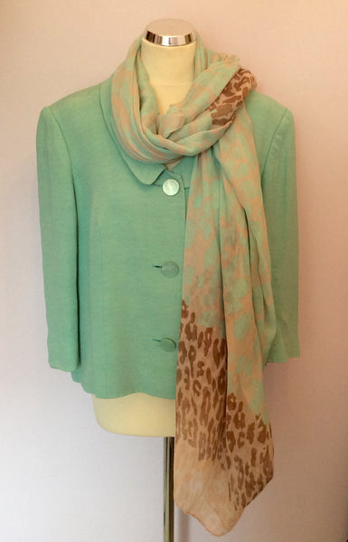 ALEX & CO LIGHT GREEN SCOOP NECK 3/4 SLEEVE JACKET SIZE 20 - Whispers Dress Agency - Sold - 1