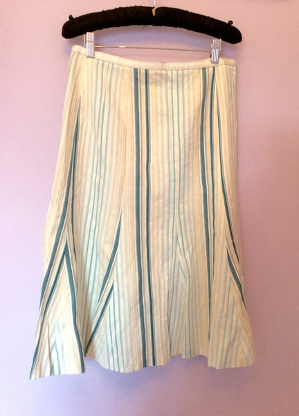 Betty Barclay Striped Cotton & Silk Skirt Size 12 - Whispers Dress Agency - Womens Skirts - 1