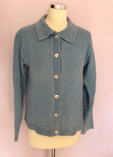 Boden Blue Cotton Cardigan Size S - Whispers Dress Agency - Womens Knitwear - 1