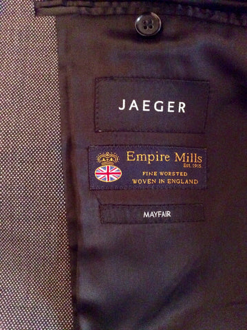 Jaeger 'Mayfair' Charcoal Grey Fleck Wool Suit Size 42R/34W - Whispers Dress Agency - Mens Suits & Tailoring - 5