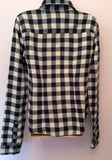 Abercrombie & Fitch Blue Check Cotton Shirt Size L - Whispers Dress Agency - Sold - 2