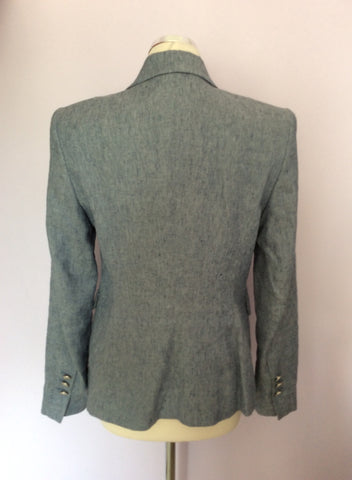 OUI COLLECTION LIGHT GREY LINEN BLEND JACKET SIZE 12