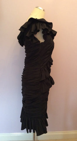 Brand New Forever Unique Black Cocktail Dress Size 10 - Whispers Dress Agency - Womens Dresses - 4
