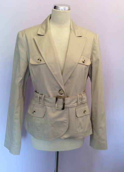 Laura Ashley Beige Cotton Jacket Size 18 - Whispers Dress Agency - Sold - 1