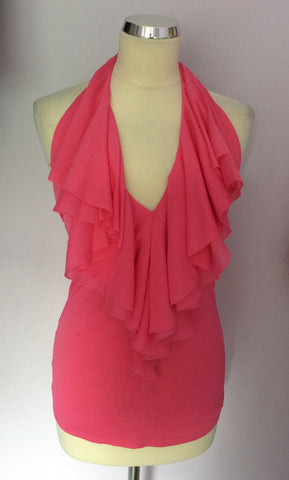 Brand New Ralph Lauren Electric Pink Lilly Ruffle Top Size S With Defects - Whispers Dress Agency - Womens Tops - 1