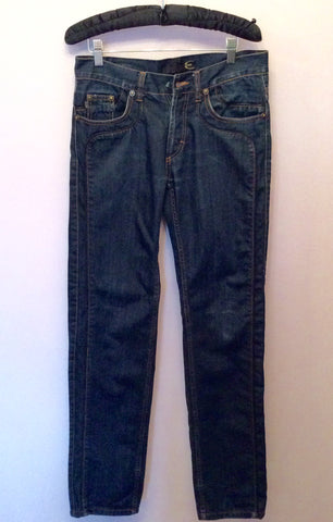 Just Cavalli Dark Blue Slim Leg Jeans Size 29W/33L - Whispers Dress Agency - Mens Jeans - 1