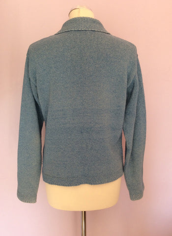 Boden Blue Cotton Cardigan Size S - Whispers Dress Agency - Womens Knitwear - 2