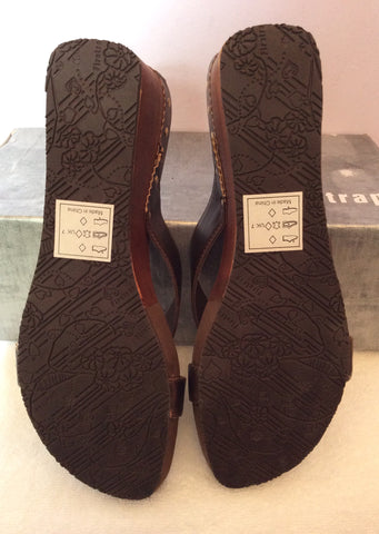 Brand New Firetrap Brown Slip On Wedge Heel Mules Size 7/40 - Whispers Dress Agency - Womens Mules & Flip Flops - 5