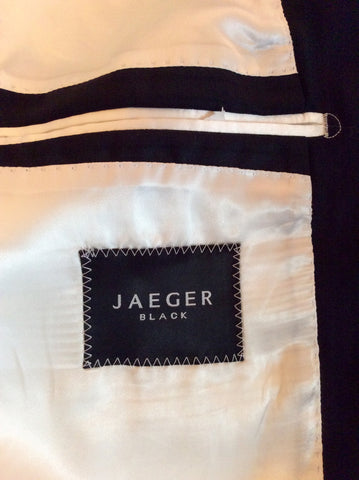 BRAND NEW EX SAMPLE JAEGER BLACK STRIPE WOOL SUIT JACKET SIZE 38L - Whispers Dress Agency - Mens Suits & Tailoring - 4
