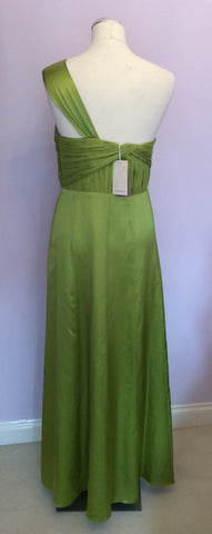 BRAND NEW MONSOON LIME GREEN SILK MAXI DRESS SIZE 18 - Whispers Dress Agency - Womens Dresses - 3