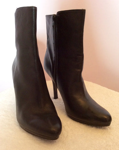 Ralph Lauren Black Leather Ankle Boots Size7/41 - Whispers Dress Agency - Womens Boots - 3