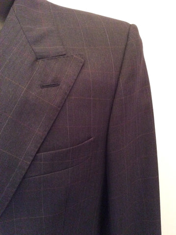 JAEGER CHARCOAL GREY CHECK WOOL SUIT SIZE 40R/36W - Whispers Dress Agency - Mens Suits & Tailoring - 4