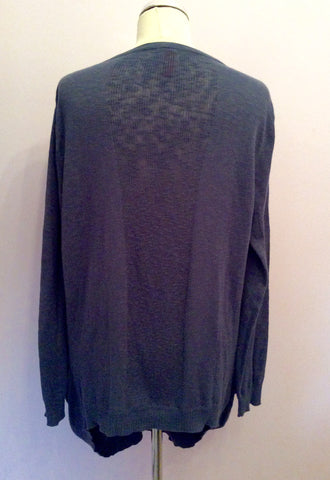 Vero Moda Dizzy Blue Long V Neck Cardigan Size L - Whispers Dress Agency - Womens Knitwear - 3