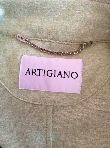 ARTIGIANO LIGHT GREEN WOOL BLEND JACKET SIZE 20 - Whispers Dress Agency - Womens Coats & Jackets - 4