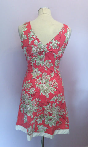 Brand New Ady Gluck-Frankel Pink Floral Print Dress Size S - Whispers Dress Agency - Womens Dresses - 2