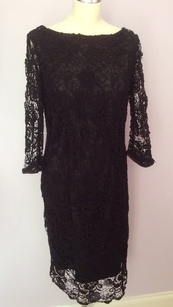 Brand New Coast Black Lace 'Alice' Dress Size 16 With Defect - Whispers Dress Agency - Sold - 1