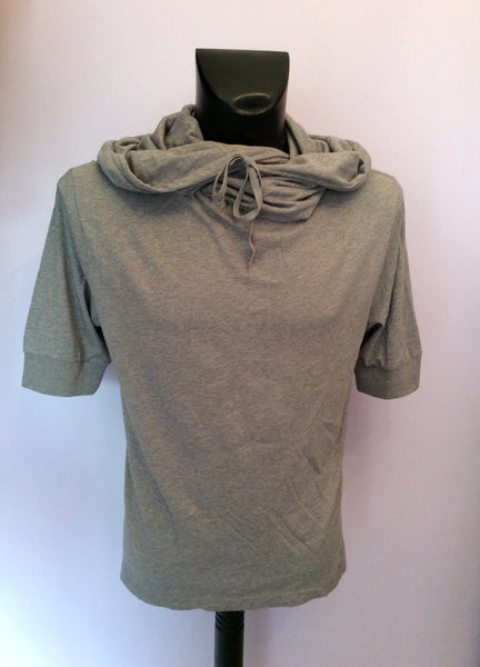 All Saints Light Grey Hooded Crew Top Size S - Whispers Dress Agency - Sold - 1
