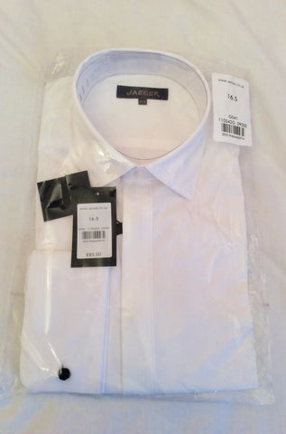 "Brand New Jaeger White Dress Double Cuff Shirt Size 16.5"" - Whispers Dress Agency - Sold - 1"