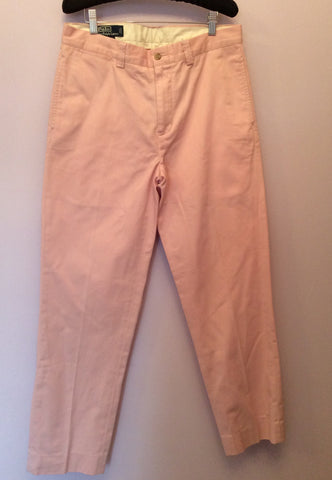 Brand New Ralph Lauren Polo Pink Cotton Chino Trousers Size 14 - Whispers Dress Agency - Sold - 1