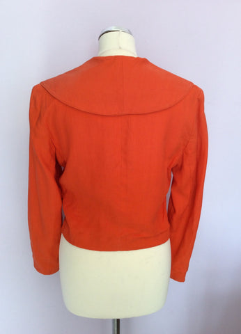 Vintage Paul Costelloe Orange Linen Jacket Size 8 - Whispers Dress Agency - Womens Vintage - 2