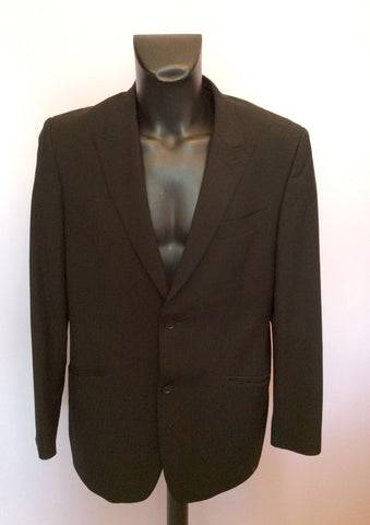 Douglas Black Pinstripe Pure Wool Jacket Size 42R - Whispers Dress Agency - Mens Suits & Tailoring - 1