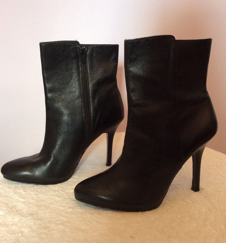 Ralph Lauren Black Leather Ankle Boots Size7/41 - Whispers Dress Agency - Womens Boots - 2