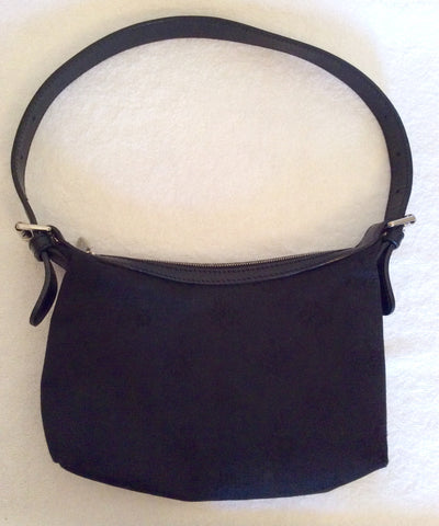 Mulberry Black Canvas & Leather Small Shoulder Bag - Whispers Dress Agency - Sold - 2