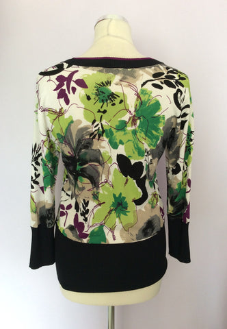 BETTY BARCLAY FLORAL PRINT FINE KNIT TOP SIZE S - Whispers Dress Agency - Womens Tops - 2