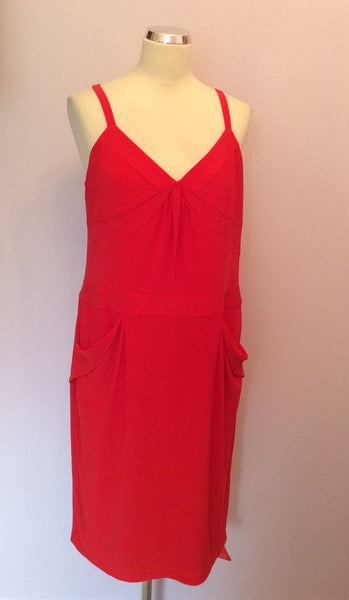 Brand New Holly Willoughby Red Dress Size 16 - Whispers Dress Agency - Womens Dresses - 1